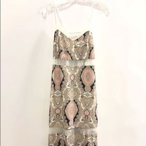 NWT BCBGeneration Paisley Sheer Cutout Maxi Dress